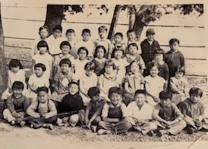 Walnut Grove Oriental Elementary School 1st and 2nd grade class picture (ca. 1936)  James - bottom row, second from left. (1st grade) Sam (Isamu) - back row, 1st from the left (2nd grade)