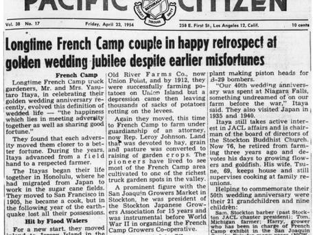 Yasutaro Tsune 50th anniversary Pacific Citizen article (April 1954)