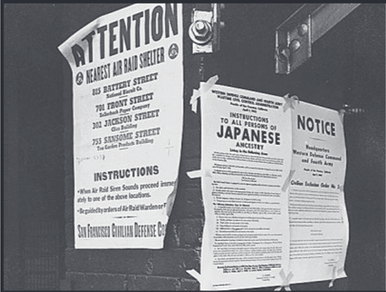 Executive Order 9066 forcing Japanese Americans into American Internment Camps from 1942-1945.