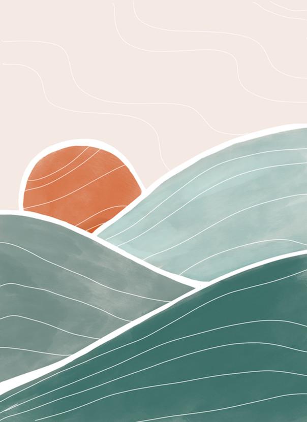 orange sun, teal waves.jpg