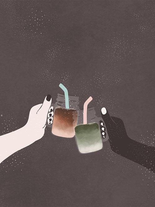 coffee and matcha cheers