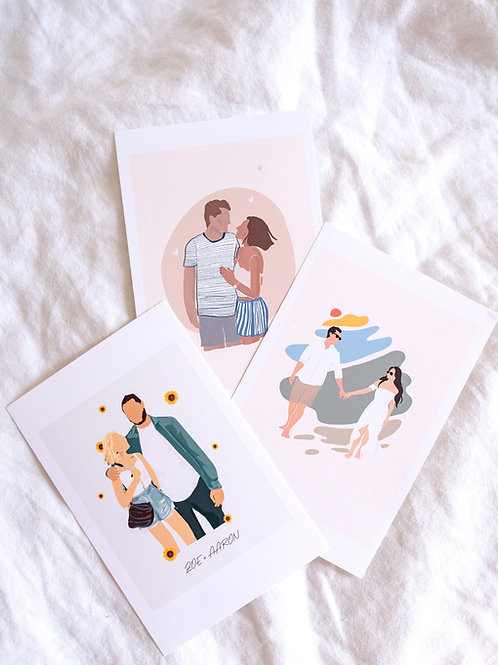 personalized couple print, style 01