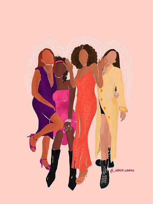 Maya, Toni, Joan, Lynn