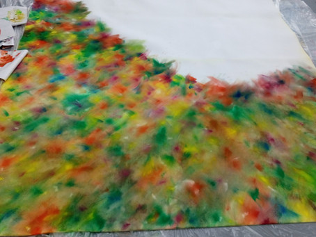 Painting on foam to be developed into new sculptures...