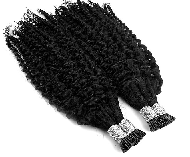 (Qty 50) Brazilian Kinky Curly ITIPS