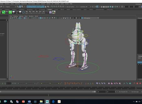Rigging a robot in maya