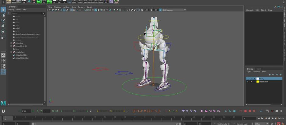 Rigging a robot in maya