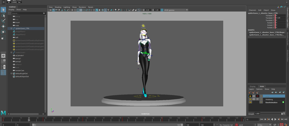 Personal Final Major Project: Spider Gwen