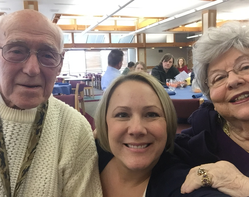My grandparents and I at an Engaged Learner awards luncheon