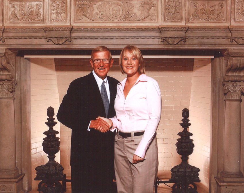 Meeting Lou Holtz at a leadership conference