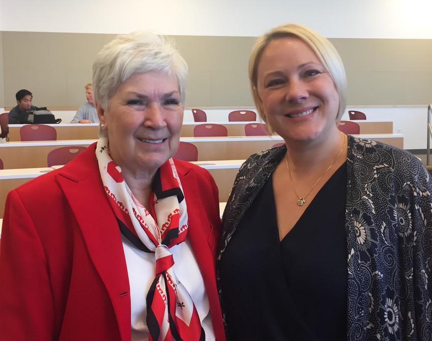 Meeting Gail Miller as a Gail Miller Women in Business scholarship recipient