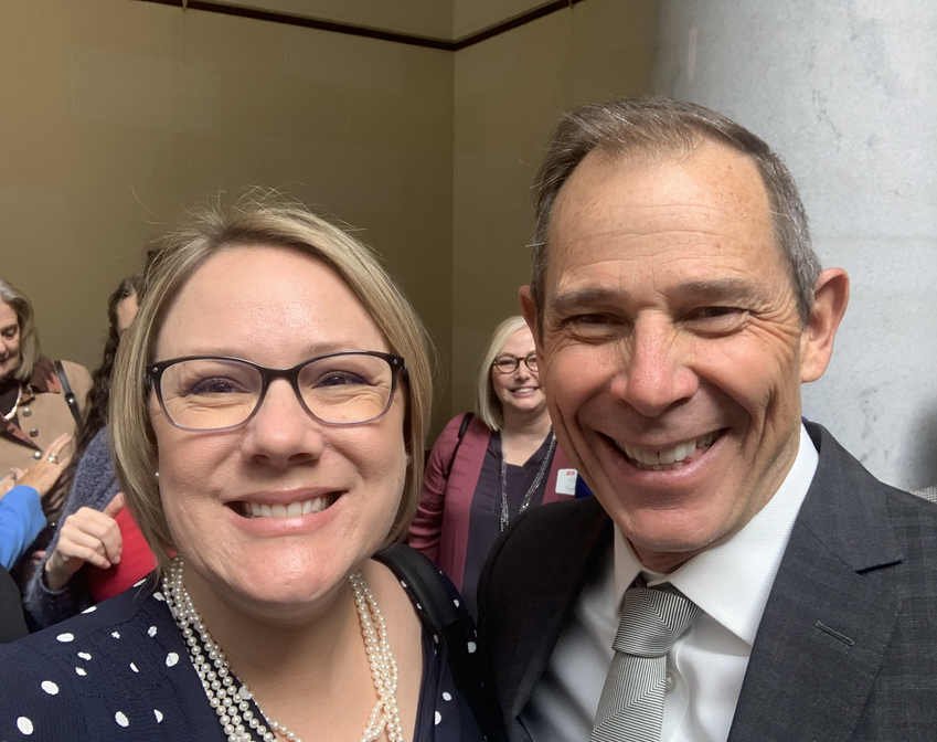 With Congressional Rep. John Curtis