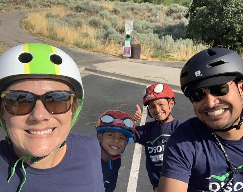 D'Sousa family bike ride