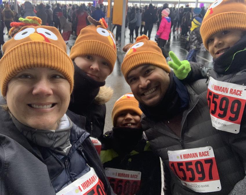 D'Sousa family running the Human Race 5k