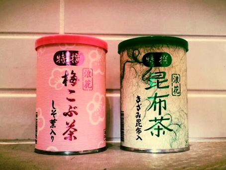 梅こぶ茶と昆布茶♫