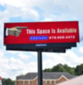 Digital Billboard I-20 Eatbound Atlanta