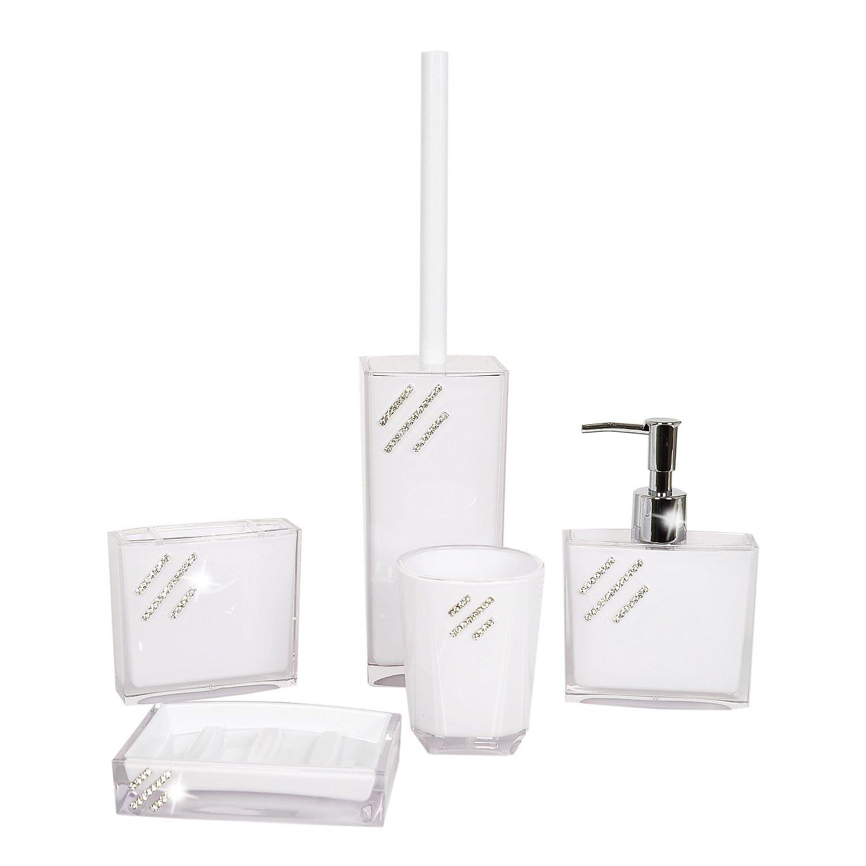 onlineshop | klingnau | sevki gmbh | badezimmer set 5-tlg. - weiss, Badezimmer ideen