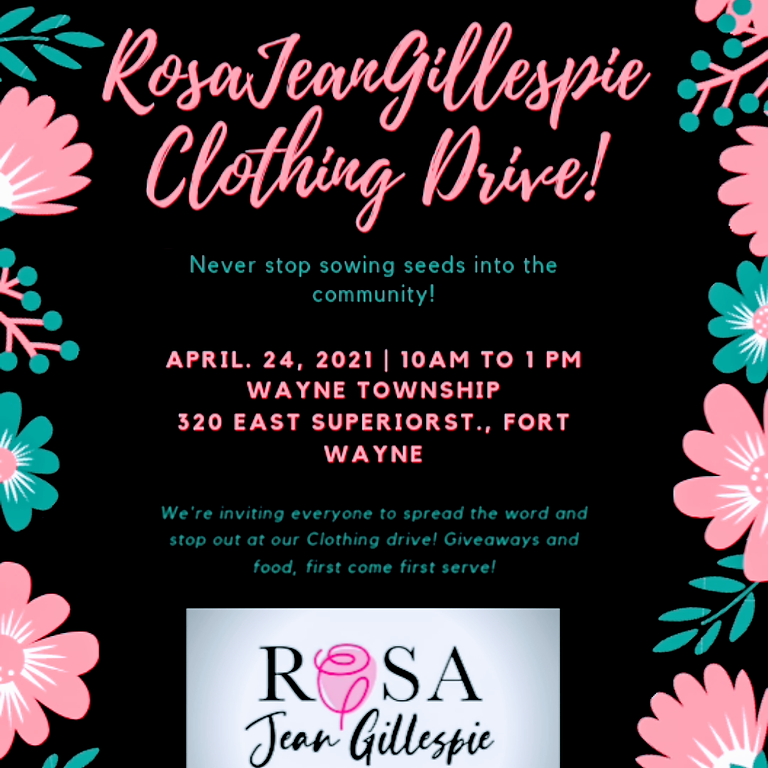 Rosa Jean Gillespie Clothing Drive