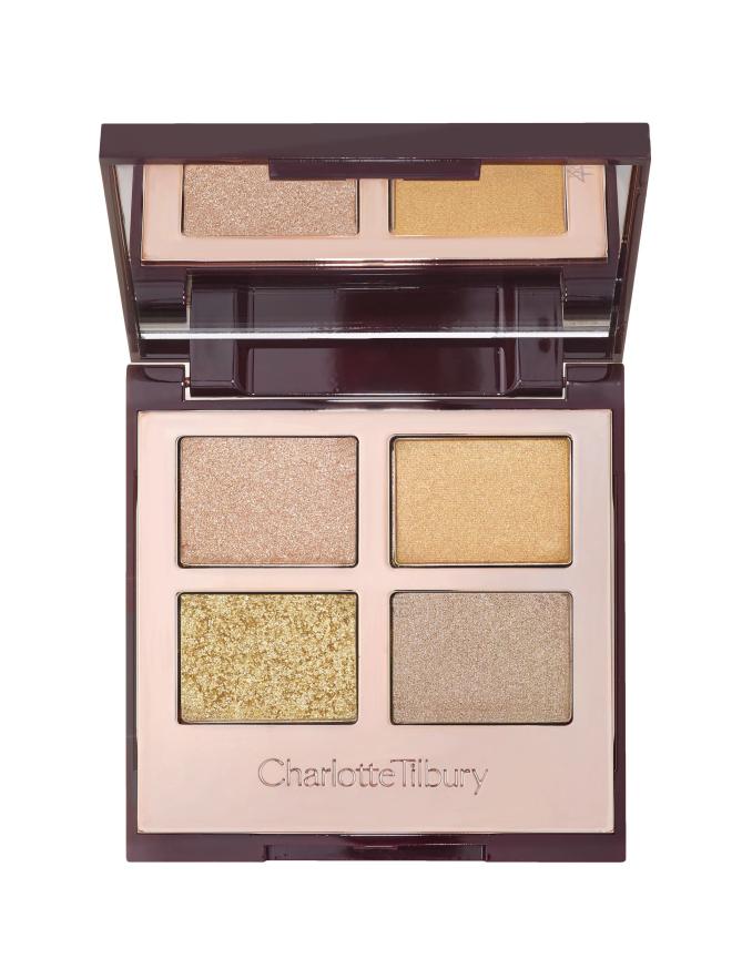 Ideal para las chicas que no son expertas en maquillaje. Con estos cuatro colores puedes lograr un look fresco y moderno. Luxury Palette, de Charlotte Tilbury, $52.