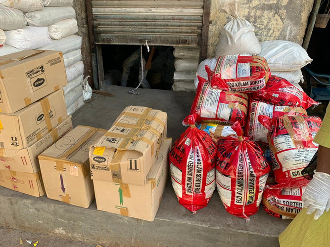 Supplies that was purchased for care pacakges