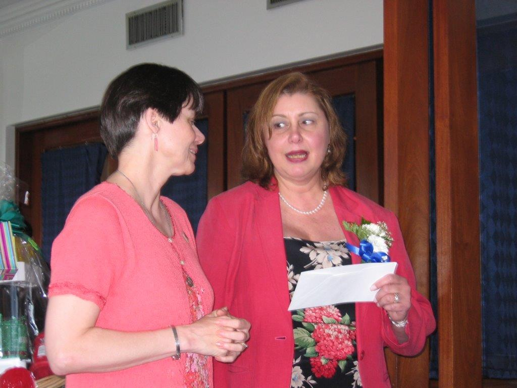 Community Service Awards Luncheon 6-10-06 Eileen Jackson, Linda Dianto.jpg
