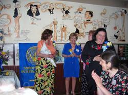 Community Service Awards Luncheon June 11, 2005 Linda Dianto, Dot McNamara, Barb