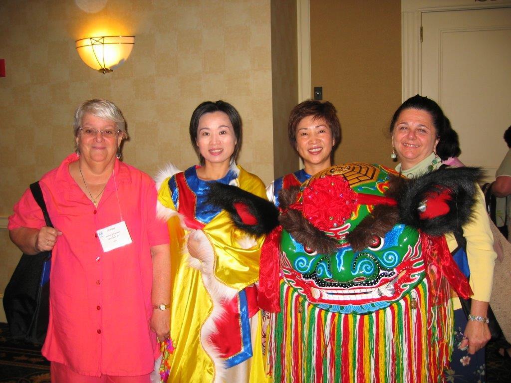 Joanne Stevenson & Charlynn Willis with delegates.jpg