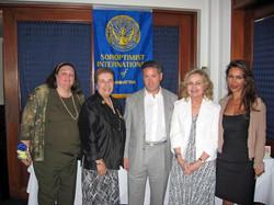 Community Service Awards   June 9, 2007 Sandy Gabin, Marie Kennedy, guest, Dot M