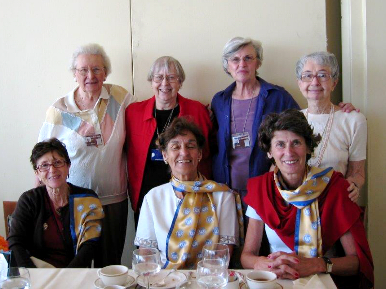 Luncheon UN August 2005 SINY-Carolyn, Lois, Cathy, and guests.jpg