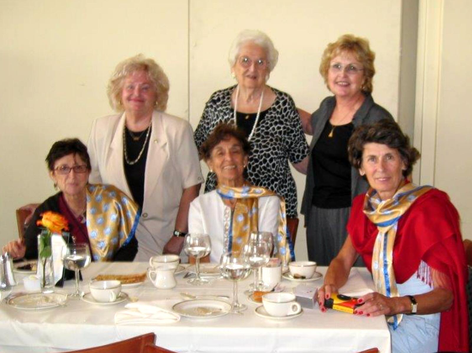Luncheon UN August 2005 Dee Carroll, Leonia Sagasta, Dot McNamara  Greta Hvaring