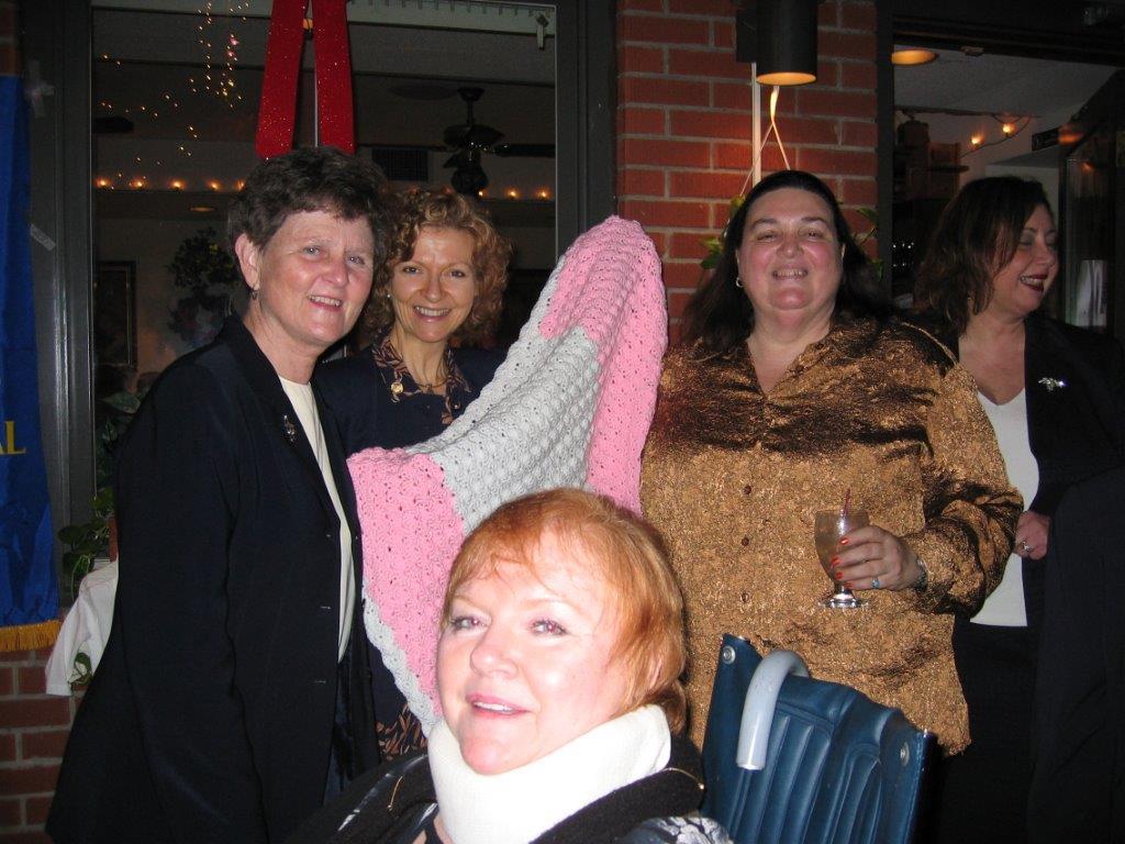 Holiday Party December 13,2006  Sr. Teresa, Barbara Costigan,Sandy Gabin, Linda
