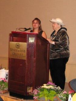 Spring conference April 2006 Margaret Hart presenting WOW award.jpg