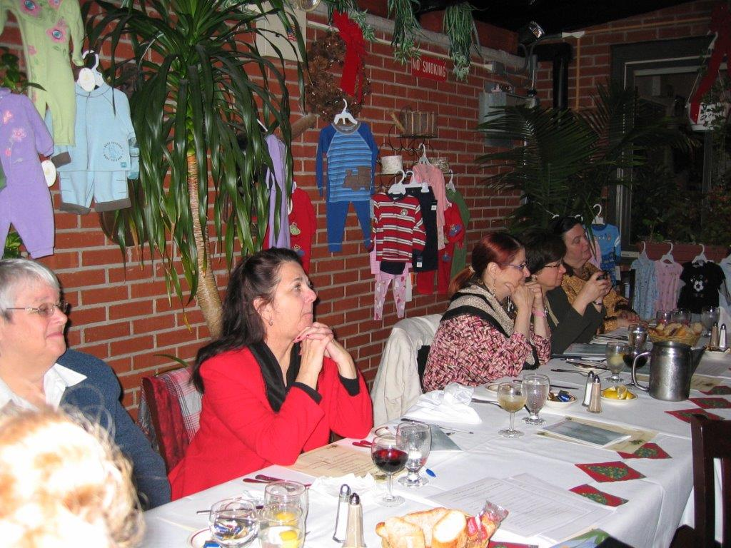 Holiday Party December 13,2006  Joanne Stevenson, Charlynn Willis, Bette Levy, T