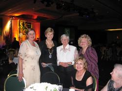 Linda Dianto, Lynn Dunning SI Pres., X, Dee Carroll, Dot McNamara, Rena Pincus.j