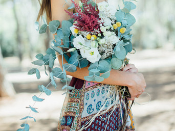 Ramo otoñal - Flores hippies