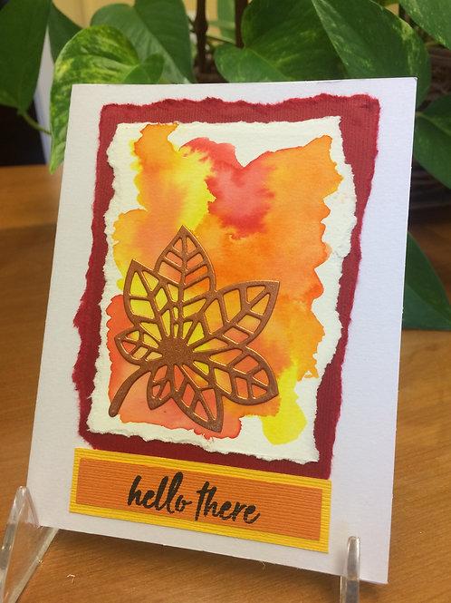 Leaf Color Splash Card