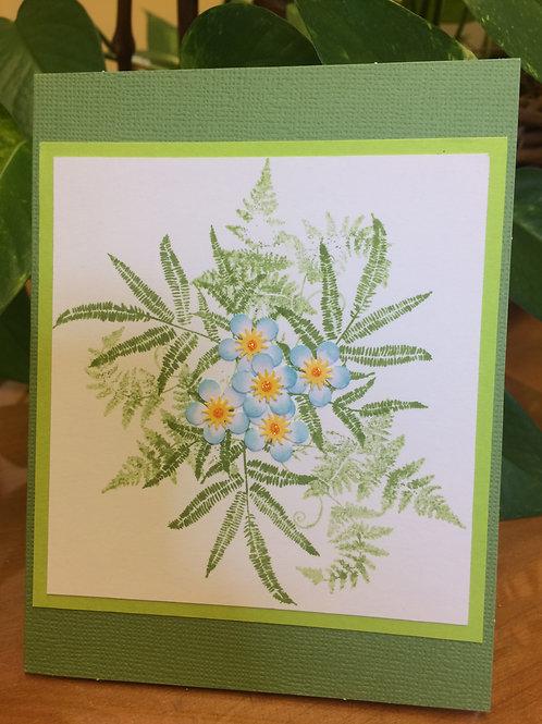 Ferns & Flowers Card