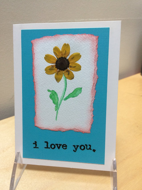 I Love You Daisy Card