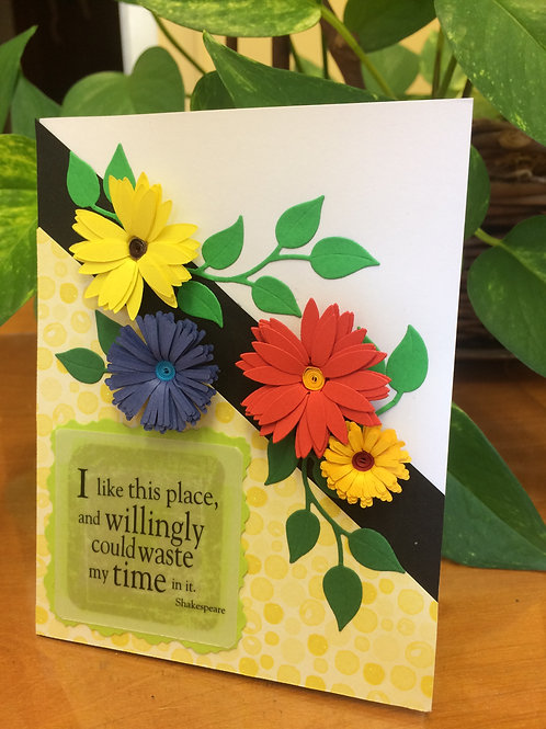Waste of Time Flowers Card
