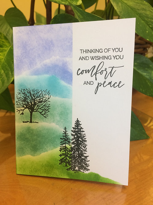 Comfort & Peace Forest Card