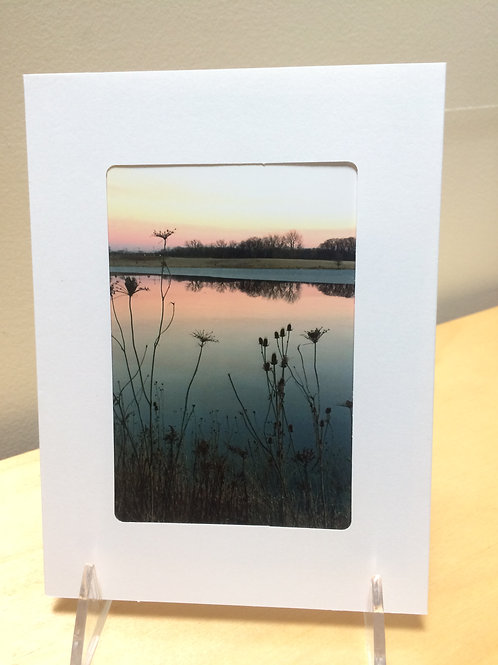Sunset Lake Photo Card