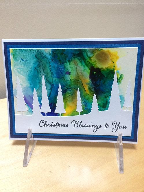 Christmas Blessings Landscape Card