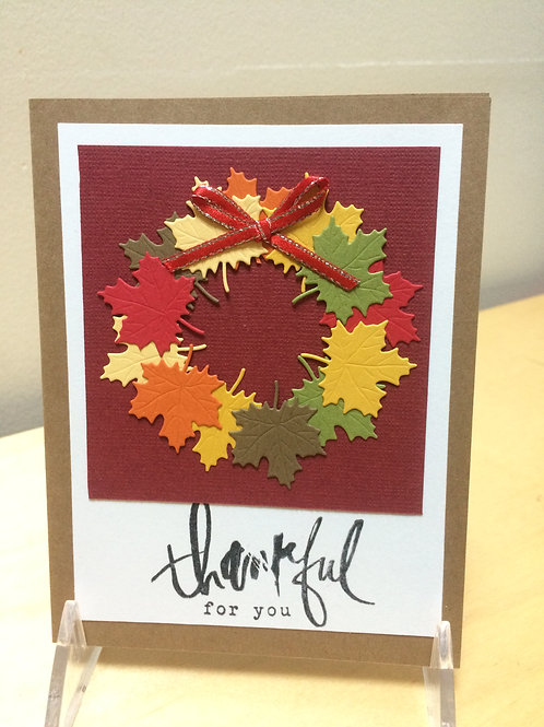 Thankful Fall Wreath Card
