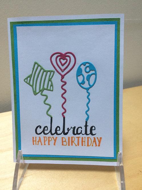 Happy Birthday Celebrate Card