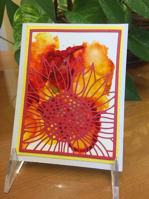 Sunflower Color Burst Card