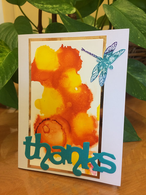Dragonflies Thank You Card