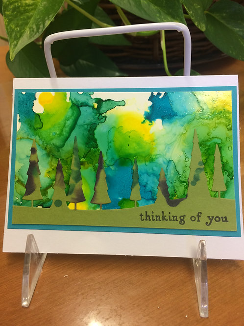 Forest Greens Card