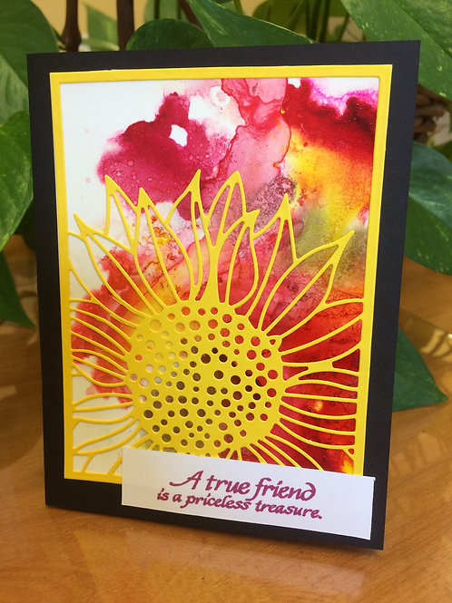 Sunflower & Sunset Friendship Card
