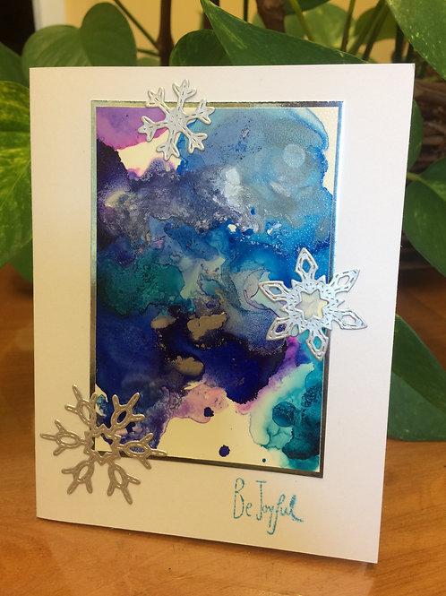Snowflake Be Joyful Christmas Card