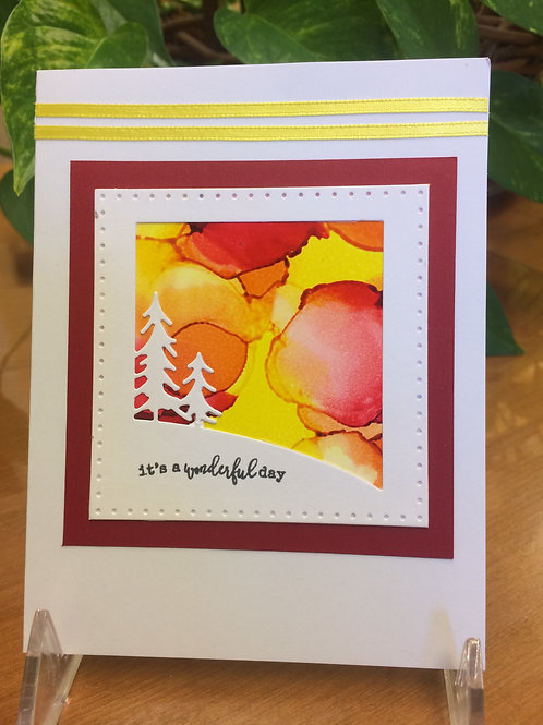 Wonderful Day Forest Sunset Card